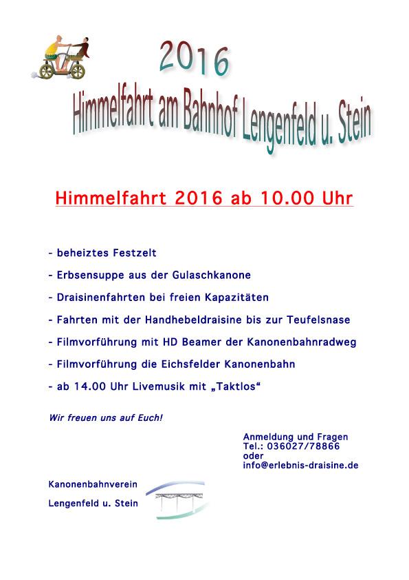 Himmelfahrt 2016 in Lengenfeld u. Stein