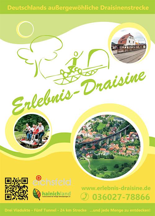 Flyer der Erlebnis Draisine aus Lengenfeld u. Stein zum download